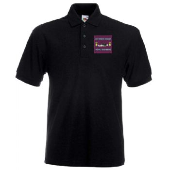 Boat Operator Embroidered Large Navy Polo shirt